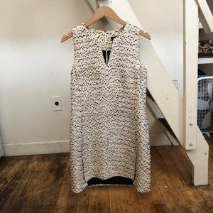 Proenza Schouler white pink tweed dress size 6